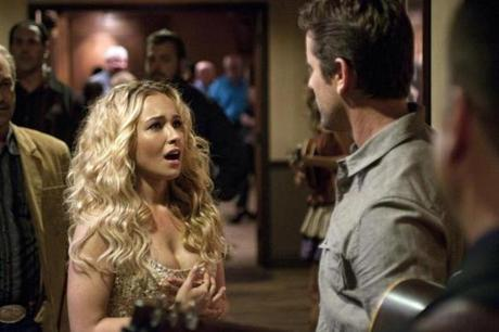 "Hayden Panettiere and Charles Esten in ""Nashville."""
